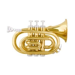Mendini MPTL Brass Bb Pocket Trumpet