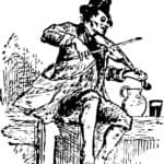 a fiddler playing the fiddle
