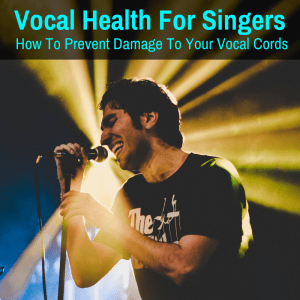 Singer caring for vocal health
