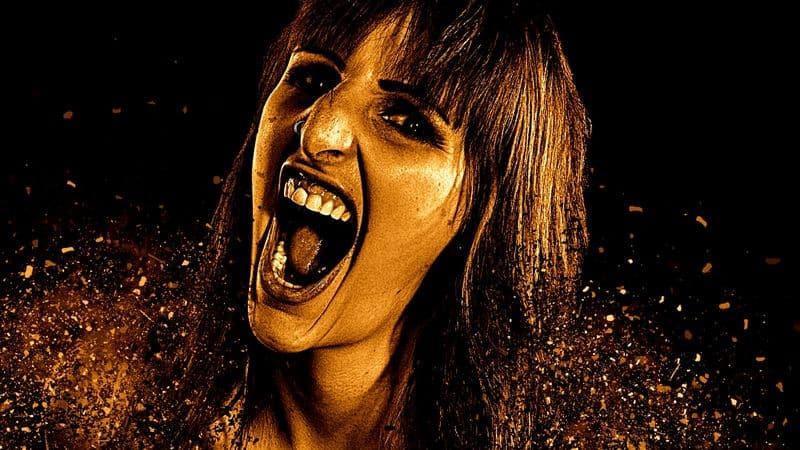 Woman scream singing