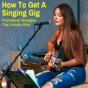 Singer performing at a gig