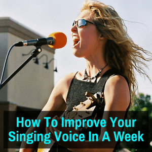 Woman improving her singing voice