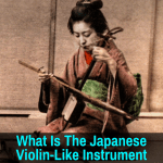 Japanese instrument like a violin