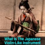 Japanese instrument like a violin
