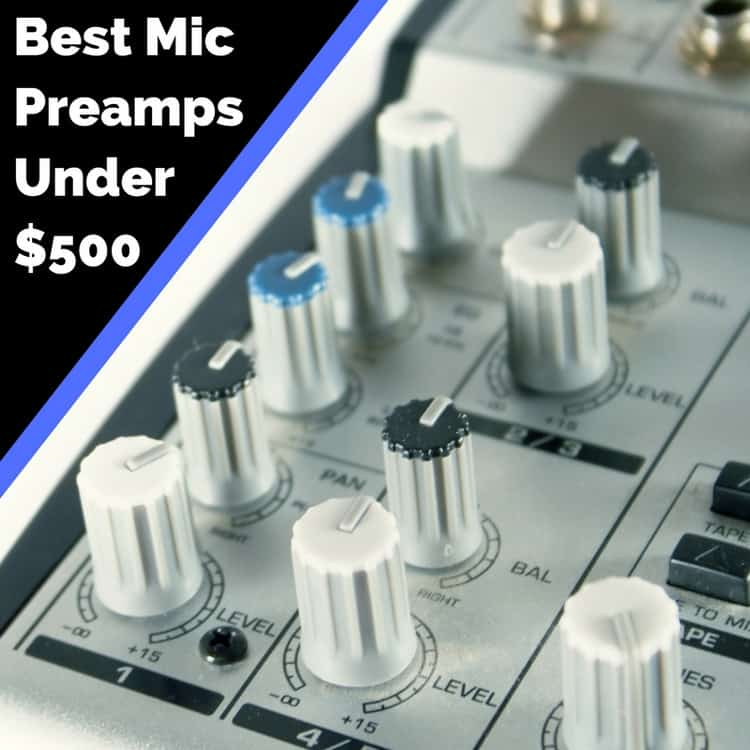 best microphone preamplifier under 500