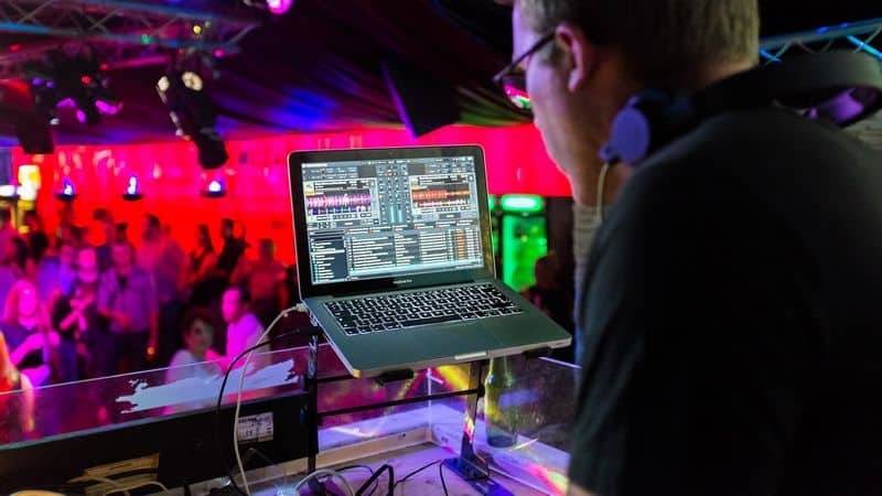 DJ playing gig he asked for