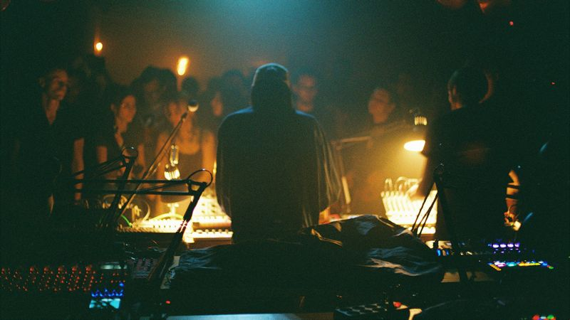 DJ playing a live gig