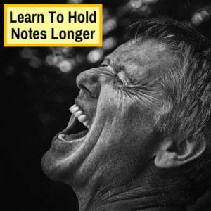 sustain notes while singing