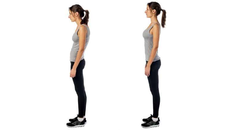 Standing with the correct posture