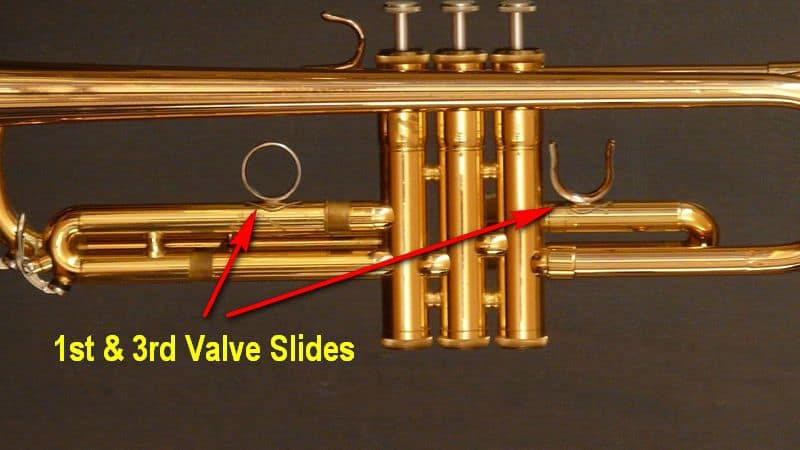 First and third valve slides