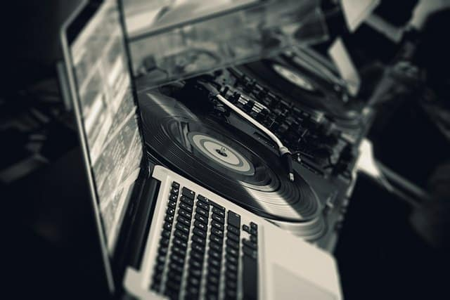 DJ laptop for song requests