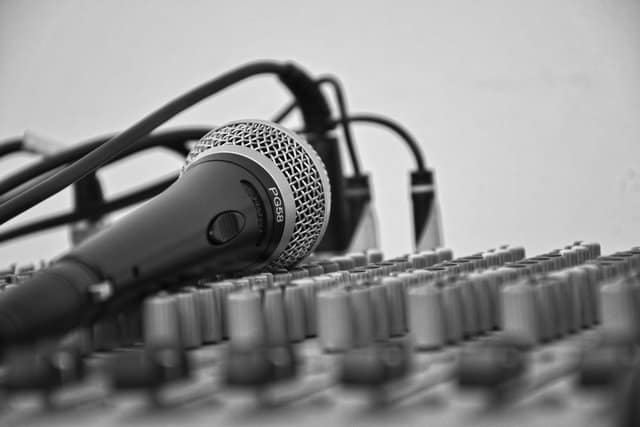 microphone and other DJ equipment