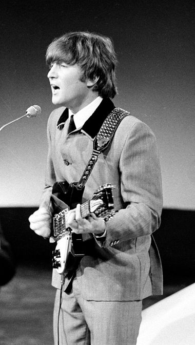 John Lennon singing