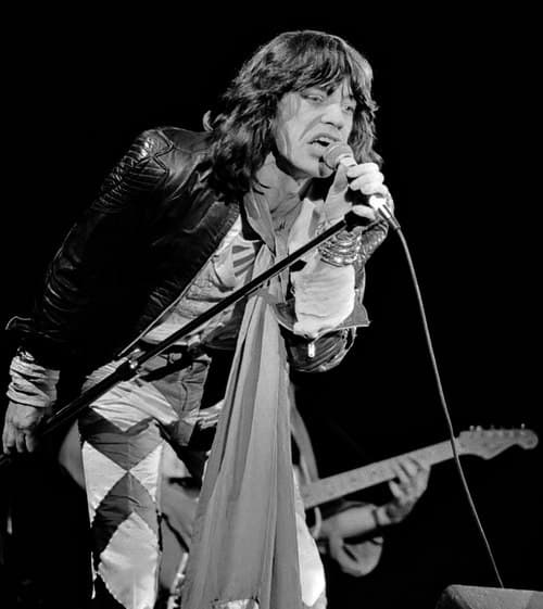 Mick Jagger singing