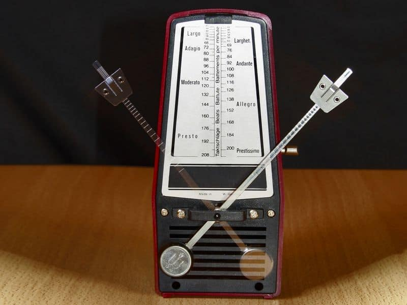 metronome to practice at a slower speed