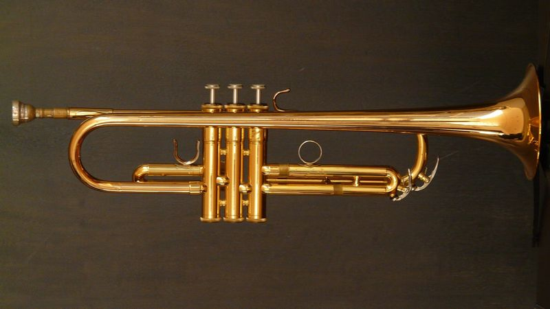 a trumpet with a history