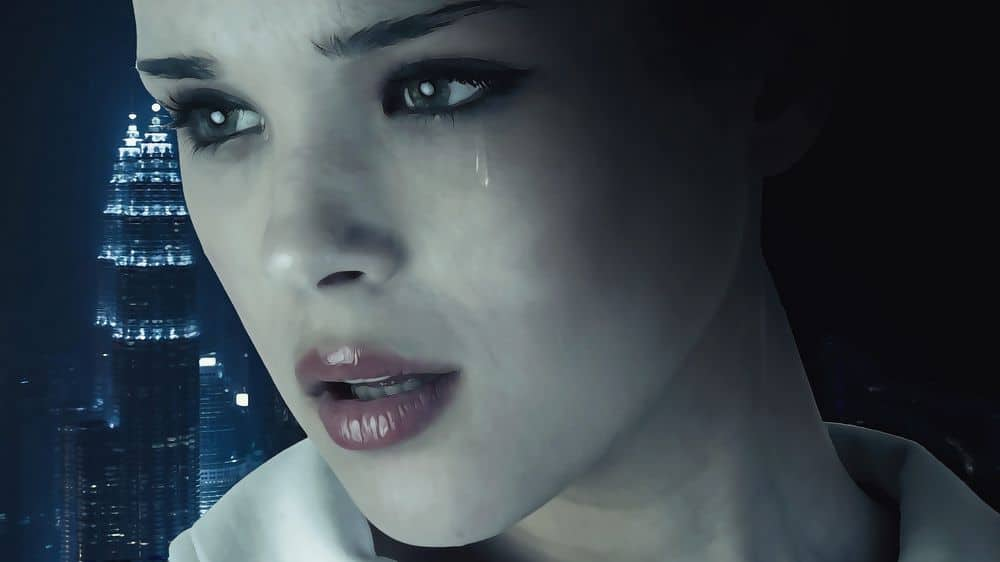 Closeup of crying woman