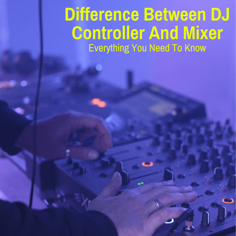 DJ using a controller and mixer