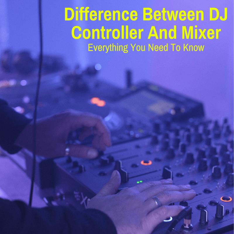 DJ using a controller and mixer
