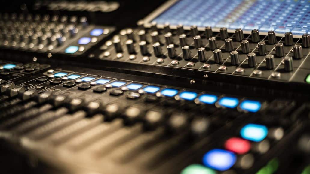 A sound mixer in a studio