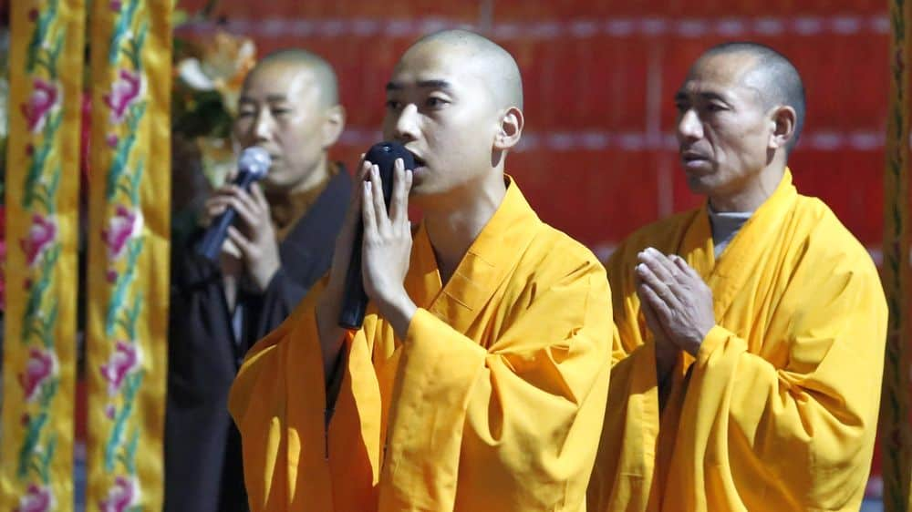 Buddhist monks throat singing
