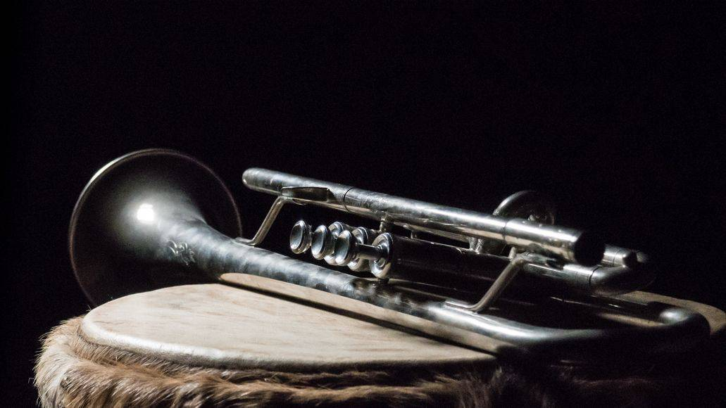 An old trumpet with average bell and bore size
