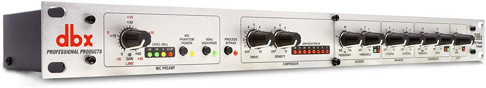 DBX 286S preamp controls