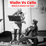Violin and cello players