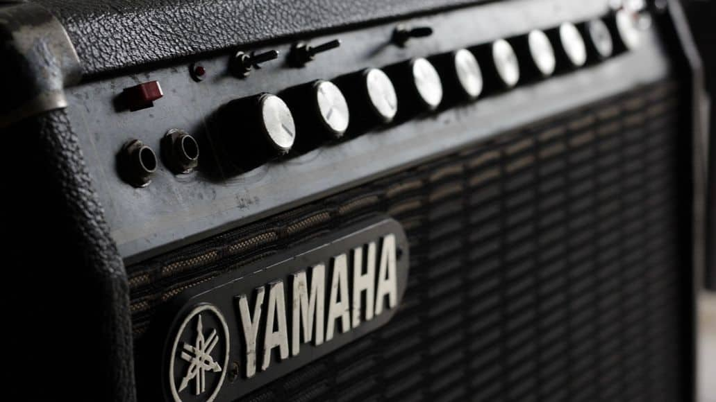 Closeup of Yamaha amplifier