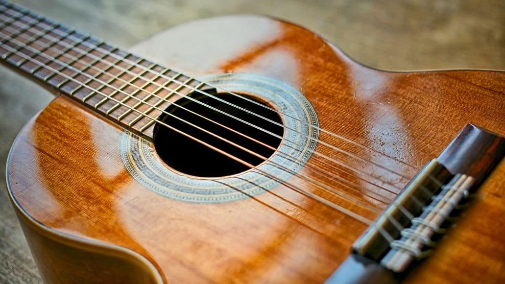 Clean acoustic guitar