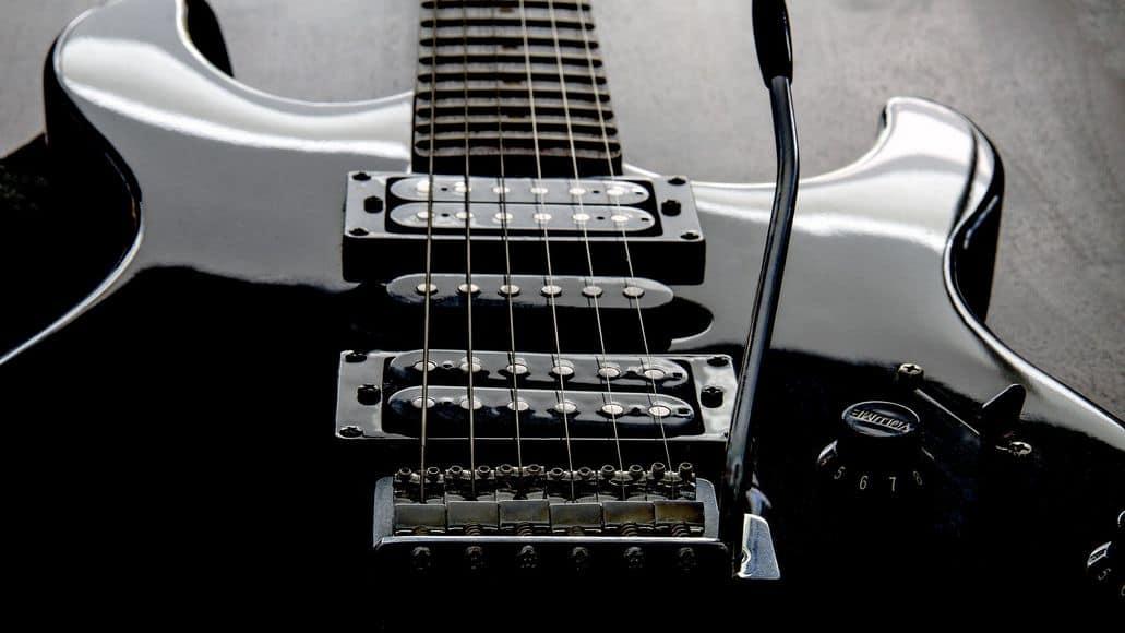 Electric guitar pickups close up