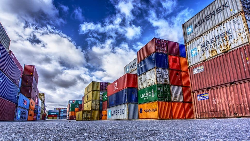 Cargo containers for shipping by sea