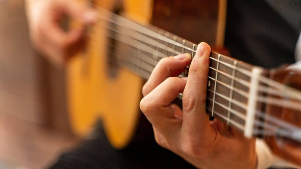 Chord combinations on the guitar