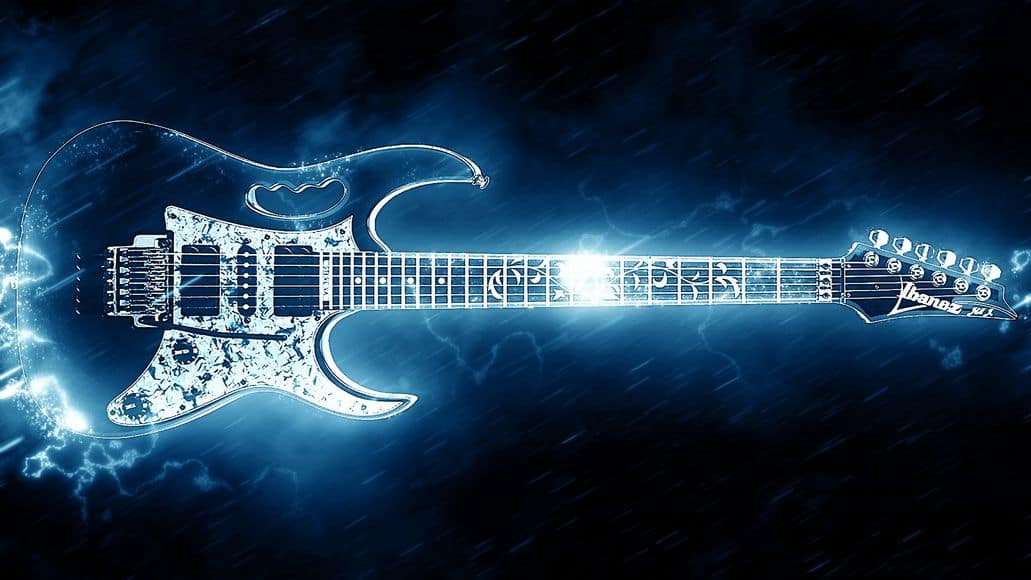 ungrounded guitar sparking electricity