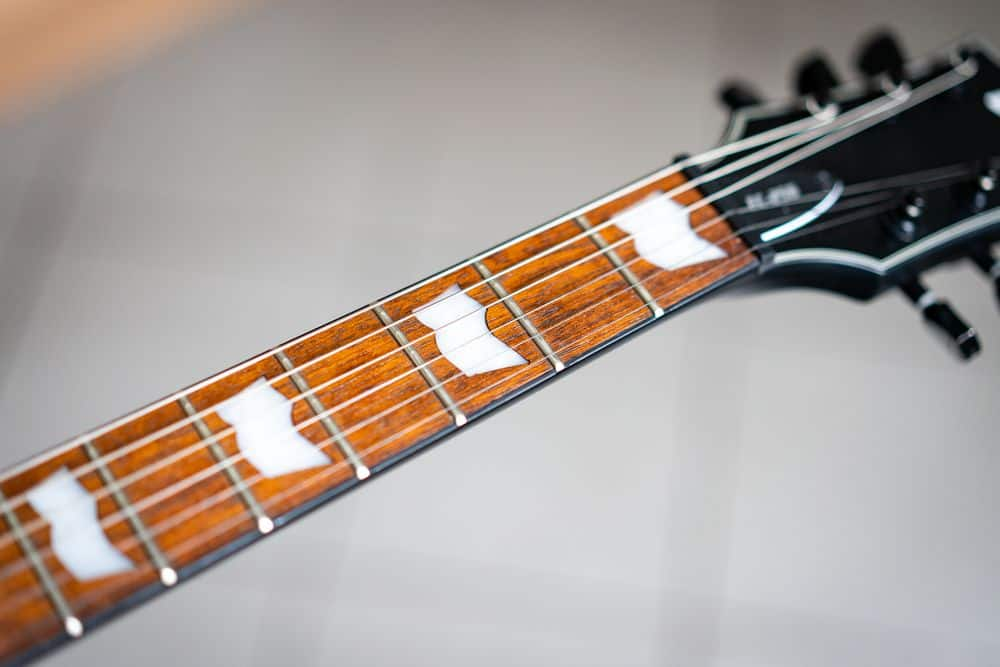 Neck of guitar