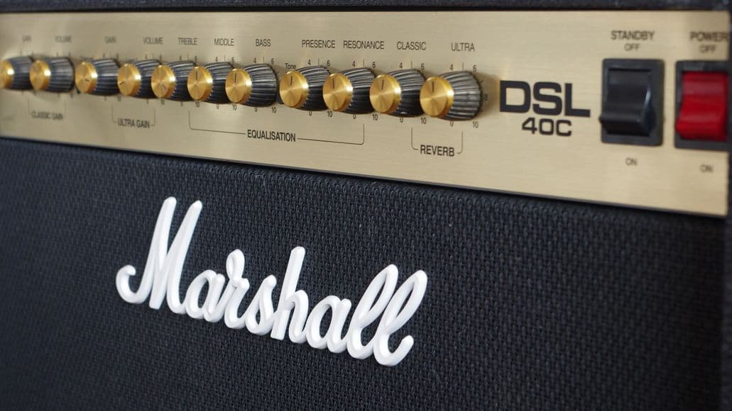 Marshall guitar amplifier with great tone