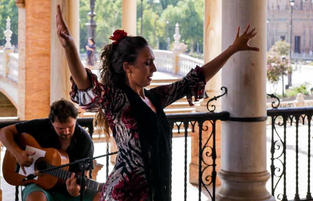 Spanish flamenco guitarist and dancer