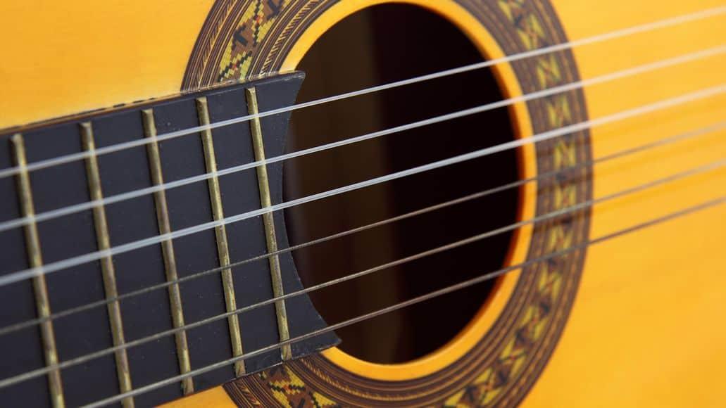 Nylon strings on classic guitar
