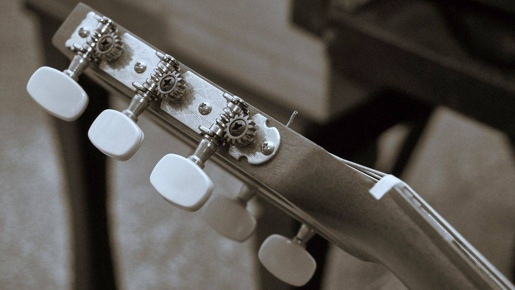 Side mounted guitar tuners