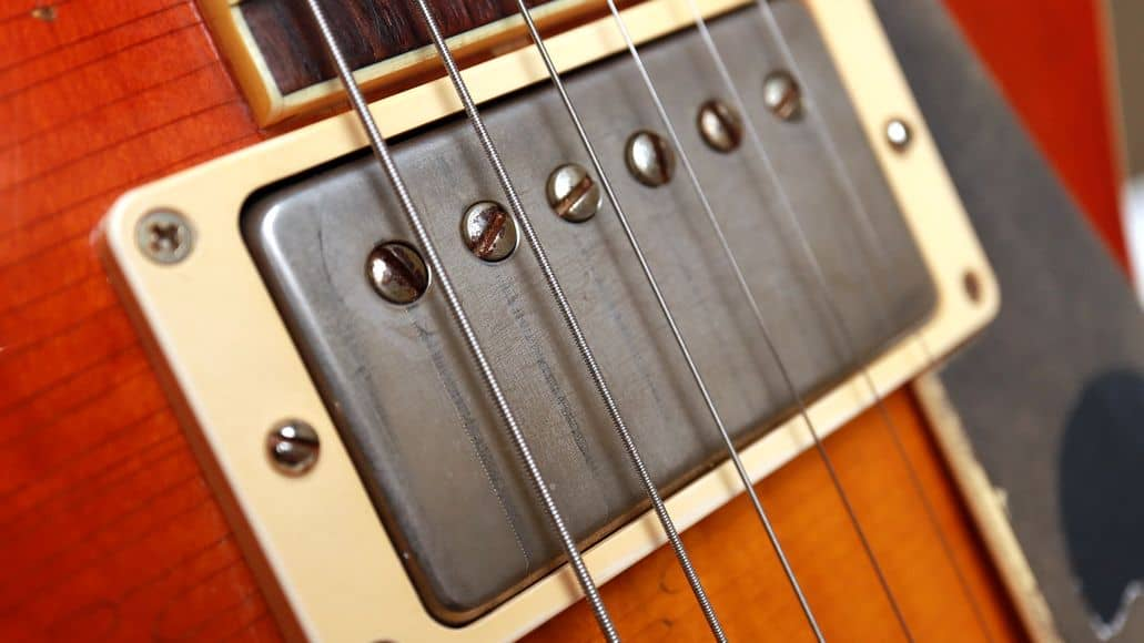 Humbucker pickup on Gibson guitar